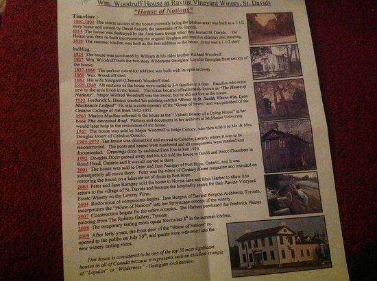 Ravine Vineyard Estate Winery: History of house at winery