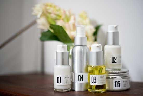 Beautiful natural spa and skin care products produced in