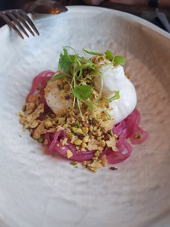 Small Plate - Burrata, pickled onions - Picture of Stanton