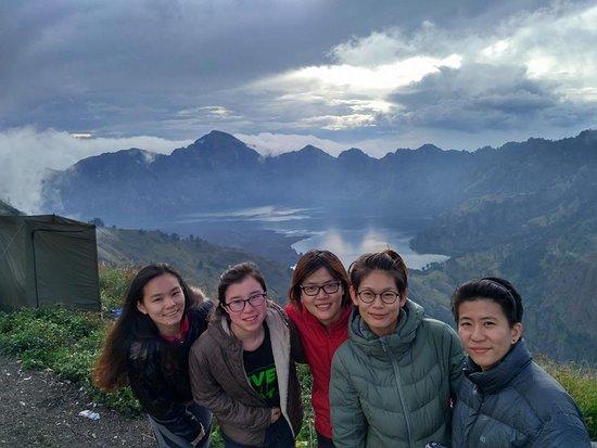 Sembalun Lawang, Ινδονησία: at the crater