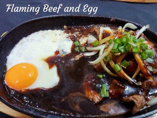 Melaka State, Malaysia: Flaming Beef