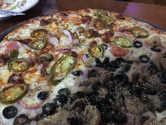 Circleville, OH: Half veggie / half chorizo and jalapeños