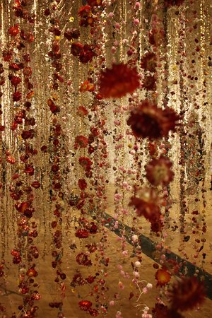 Kew, UK: garlands of preserved flowers (Life in Death)