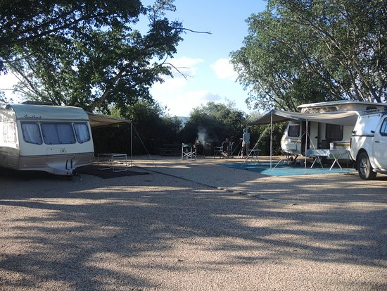 Addo Elephant National Park, Sudáfrica: Our spacious camping site.