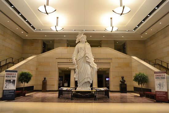 U.S. Capitol : liberty of statue in the hall