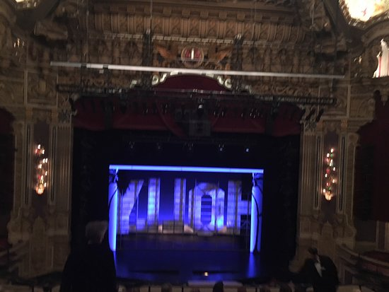 Oriental Theatre: Oriental Theater stage from the balcony.