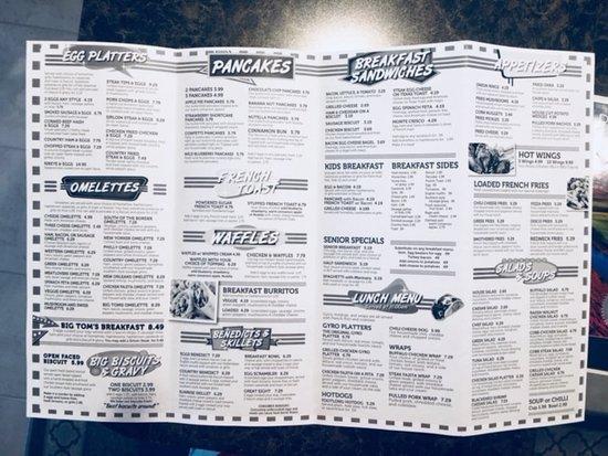 Menu Page 2 Picture Of Big Toms Diner Winter Haven Tripadvisor