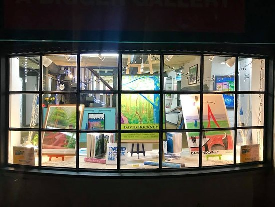 Oakham, UK: Exclusively David Hockney at A Bigger Gallery