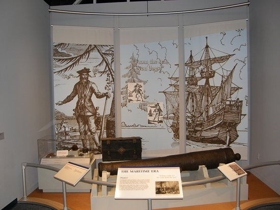 Elizabeth City, NC: North Carolina's ties to Blackbeard and other pirates is touched on at the Museum.