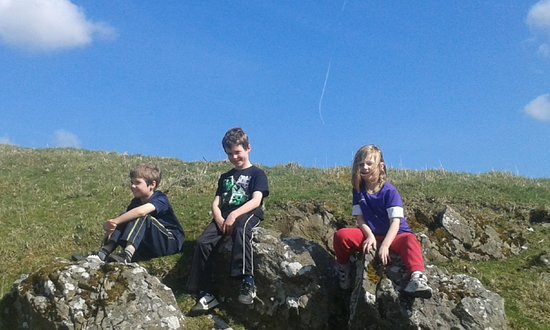 Oldcastle, Irland: loughcrew with the crew