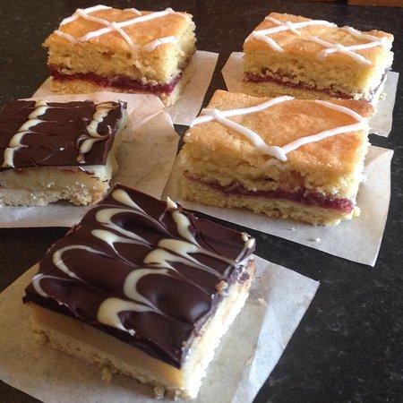 Under Skiddaw, UK: Bakewell Slice and Millionaire's Shortbread.