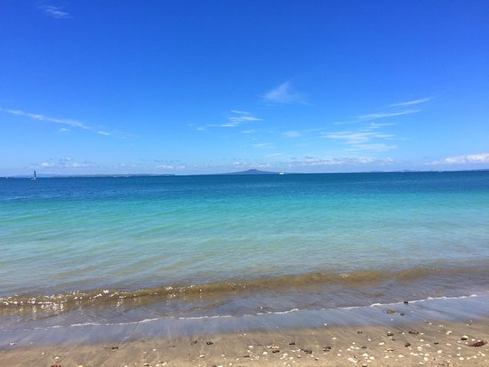 Whangaparaoa, Nueva Zelanda: High tide means the water is clear and you can just jump in