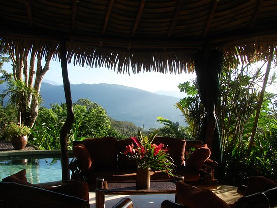 Playa Matapalo, Kosta Rika: bar terrasse