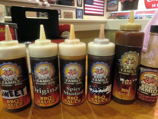 choices of BBQ sauces