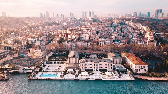 Four Seasons Istanbul at the Bosphorus: aerial shot from my drone.