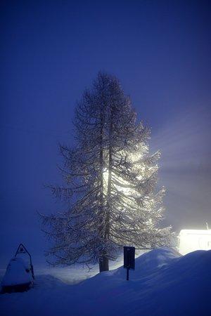 Torgnon, Italia: in mezzo alla neve