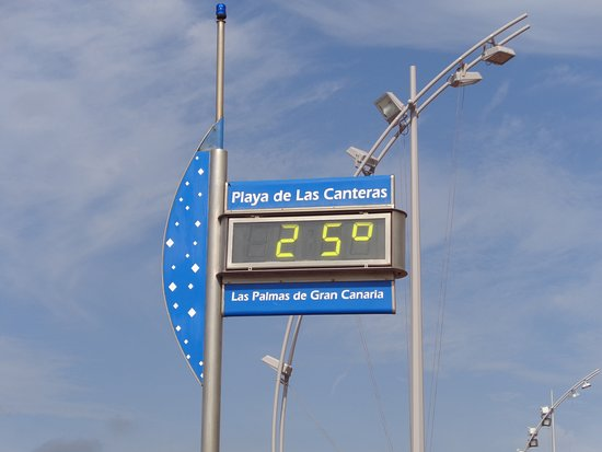 Playa de Las Canteras: Heerlijke temperatuur in februari
