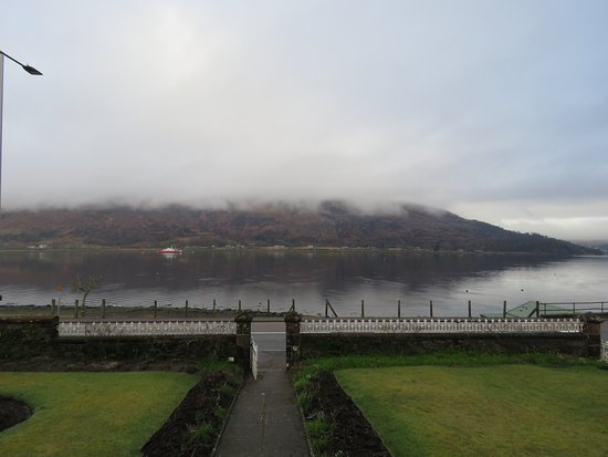 Myrtle Bank Guest House: View from the front door (this is easy morning)