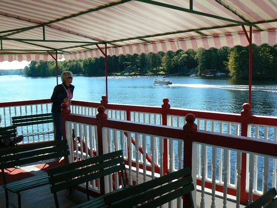 Songo River Queen: top deck flatcalm