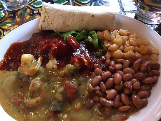 El Prado, NM: Shrimp Enchiladas