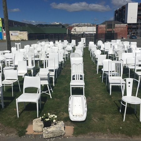 185 Empty White Chairs Earthquake Memorial Christchurch
