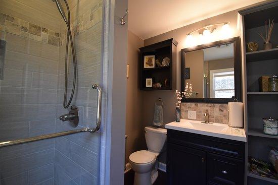 Tionesta, PA: 1st Floor bath, walk-in shower