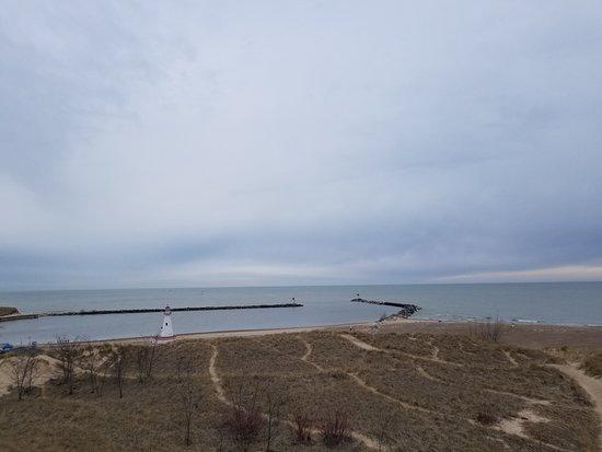 New Buffalo Public Beach: The view