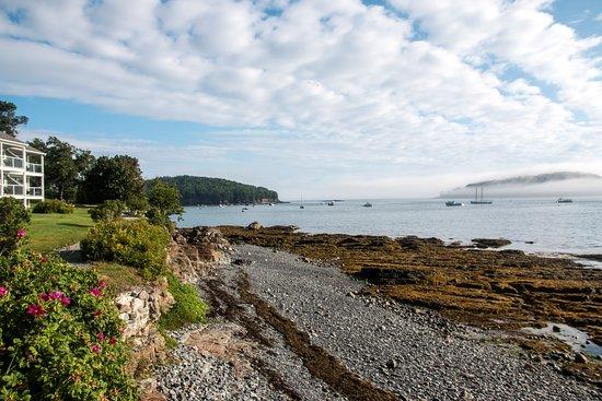 Shore Path: View is looking eoward Bar Harbor village