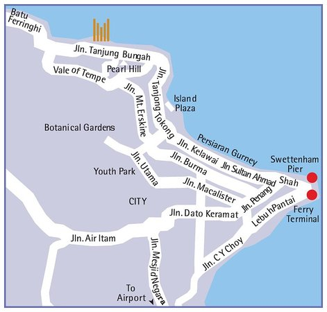 Copthorne Orchid Hotel Penang: Map
