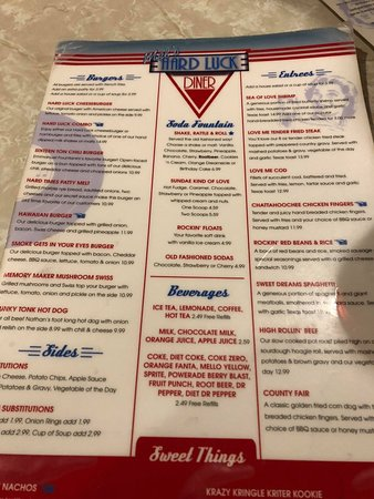 Mel S Hard Luck Diner Branson Menu Prices Amp Restaurant