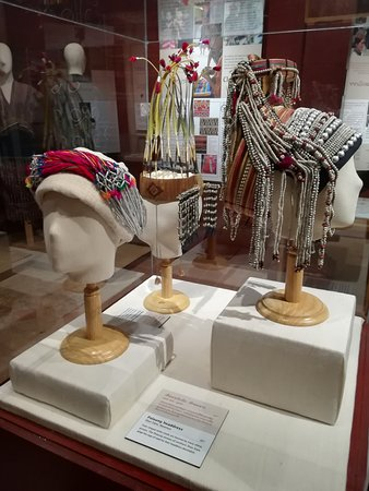 Traditional Arts and Ethnology Centre: Ethnic headdress display