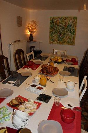 Au Coeur de Rennes: La table du petit déjeuner