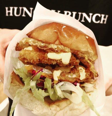 Chicken Schnitzel Burger Picture Of Burger Plus Geelong Geelong Tripadvisor