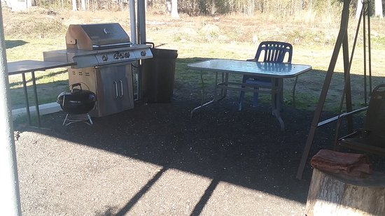 Townsend, GA:  Patio, Barbecue, TV with spot  chanel  high speed internet
