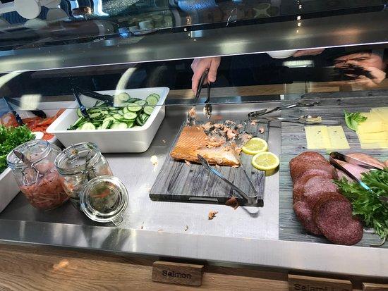 Arctic SnowHotel & Glass Igloos: Salmon is nice!