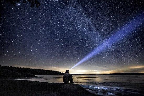Arvika, Suecia: Lugn och ro under vacker stjärnhimmel vid Stora Glasjön, Glaskogen