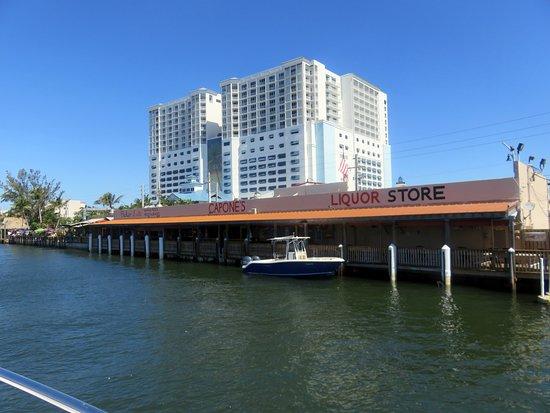 Capone's Flicker Lite: the dock along Capone's