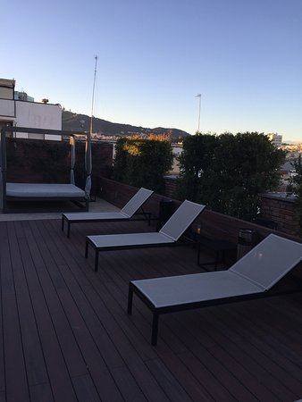 U232 Hotel: Terrace at the evening time