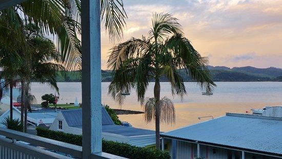 Mangonui, Nya Zeeland: Blick vom Balkon Whitu