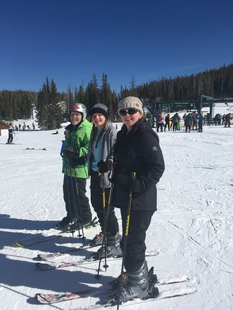 Centennial, WY: With our instructor after our ski lesson