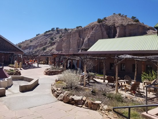 Ojo Caliente, NM: View of the spa