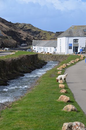 Boscastle, UK: Visitor centre and river