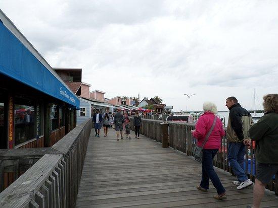 Friendly Fisherman Restaurant Boardwalk In Front Of