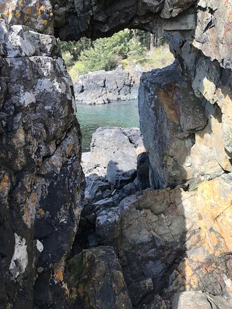 East Sooke Regional Park: easy hike down on the rocks to get to here!
