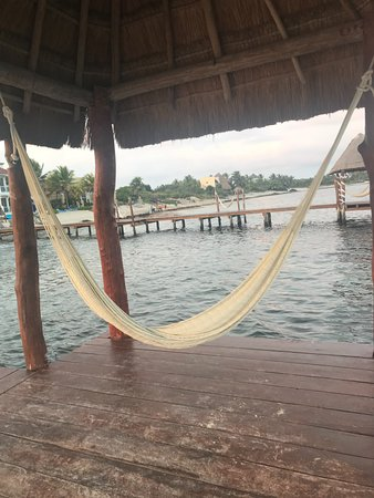 Soliman Bay, Mexico: Hammocks in the pier to relax