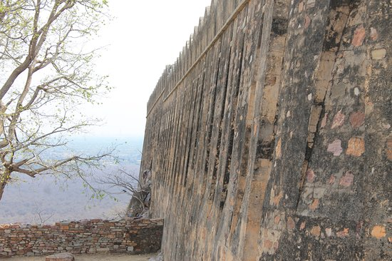 Chittaurgarh Fort : The rock solid front wall