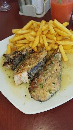 San Pedro de Macoris, Republik Dominika: Pescado frito con papas fritas