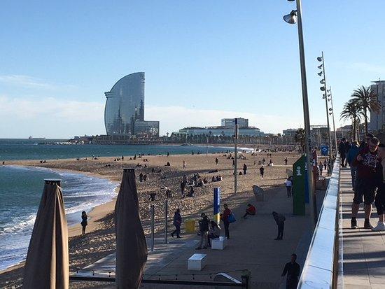 W Barcelona: Blick von der Barcelonetta