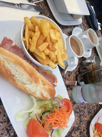 The Bothy Restaurant and Bar: Bacon baguette