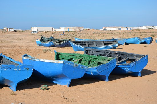 Region Souss-Massa-Draa, Marokko: vissersboten